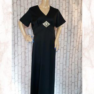 Vintage 1970 Formal Dress Made In Canada Rare Plus